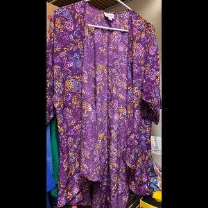 Lularoe Purple floral Lindsay, size M